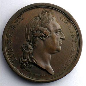 Duvivier   Consécration de la statue équestre sur la place Louis XV à Paris   bronze   41,5mm    SUP/FDC