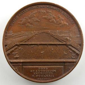 DUVIVIER/LEONARD   Pont construit à Neuilly   bronze   41mm    SUP