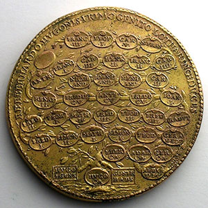 Eberhard   bronze doré   47,5 mm    TB+/TTB