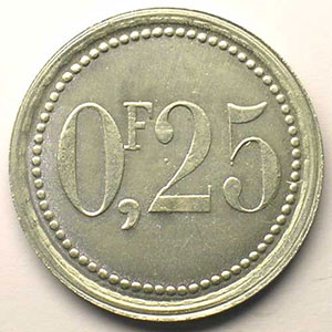 Elie   10,2  0,25 c    Al,R   30 mm flan mince   ESSAI (10 ex) FDC