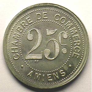 Elie 10.2    25 c  1920  Al,R  30 mm    FDC