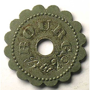 Elie 10.3  BOURG   25 c contremarqué   ZnNi,Rftr   21 mm    TTB+