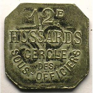 Elie 10.4   25 c   ZnNi,carré coins coupés   21,5 mm    TTB+