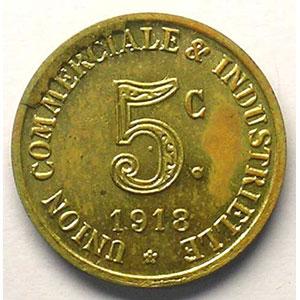 Elie 10.4   5 c 1918   Lt,R  19,5 mm   (Essai)    FDC
