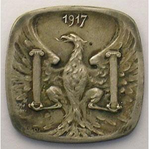Elie 10.8   10 c   1917  (Essai)  Ag, 4a  22mm    SUP