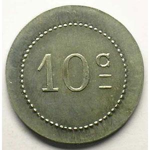 Elie 15.1  10 c 1918   BOURG   Al,R   22 mm    SUP/FDC