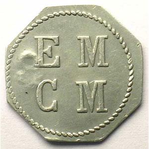 Elie 15.10   E.M.C.M. (Ecole Militaire Coop. Militaire)   1 F   Alu, 8   22mm    TTB/TTB+