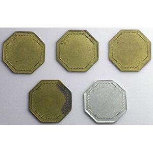 Elie 15.2 à 15.6   10, 20,50,75 c. laiton  50 c. aluminium    TTB+