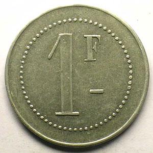 Elie 15.2   VERSAILLES   1 F   Al,R  26 mm    TTB/TTB+