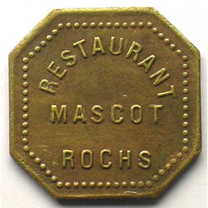 Elie 150.1   50 c   Lt, carré coins coupés  21,5mm    TTB