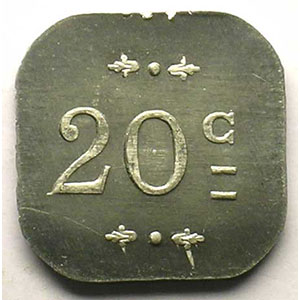 Elie 25.2  20 c 1918   BOURG   Al,4a   18,5 mm    SUP/FDC