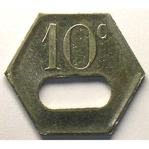 Elie B230.2   10 c   LtNi, 6  fente  27mm    TTB+