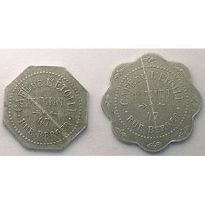 Elie C125.1 et 2   10 c et 40 (c)    TTB
