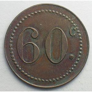 Elie C425.1   60 c   Cu, R  23,5mm    TTB