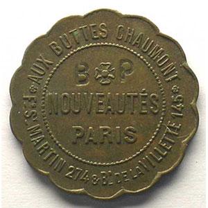 Elie Pub mque   S.V.   Cu,Rond Lobé, contr. B.P.   23,5 mm    TTB+
