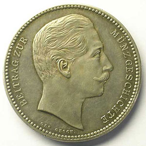 Essai / Probe   4 Mark   1904   argent    SUP/FDC