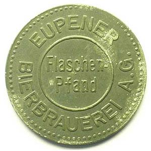 Eupen   Eupener Bierbrauerei A.G.   10 (c)   Zn, R   22mm    TTB
