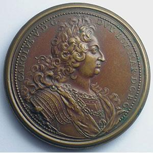 Ferdinand de SAINT-URBAIN   Délivrance de la Hongrie reconquise sur les Turcs   bronze   56mm    TTB+/SUP