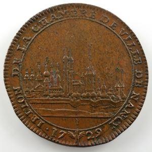 Ferdinand de Saint-Urbain   Jeton en bronze  29mm   Chambre de Ville de Nancy   1729    TTB+