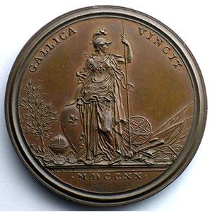 Ferdinand de SAINT-URBAIN    L'état florissant des académies royales   bronze   1720   44mm    SUP/FDC