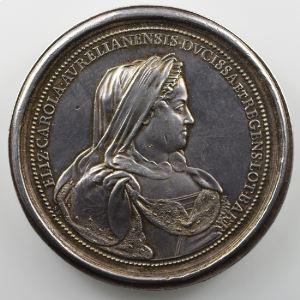Ferdinand de Saint-Urbain   Médaille en argent  58mm   La Régence de la Duchesse Elisabeth-Charlotte    SUP