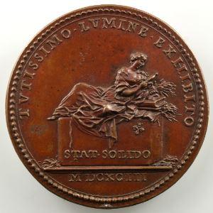 Ferdinand de Saint-Urbain   Médaille en bronze  36mm   Malpighi   1693    SUP/FDC