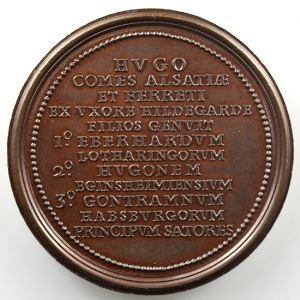 Ferdinand de Saint-Urbain   Médaille en bronze  47mm   Hugues, Comte d'Alsace    SUP/FDC