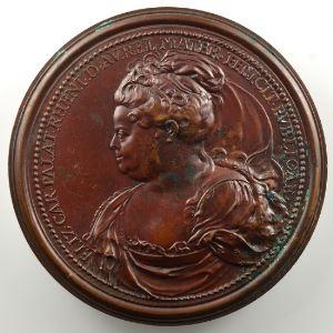 Ferdinand de Saint-Urbain   Médaille en bronze  56mm   Princesse Palatine, Duchesse douairière d'Orléans et mère du Régent    SUP