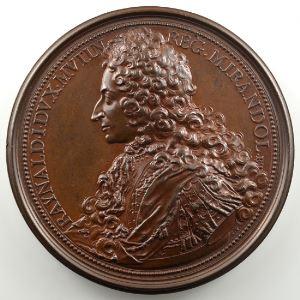 Ferdinand de Saint-Urbain   Médaille en bronze  65mm   Renauld, Duc de Modène    SUP/FDC
