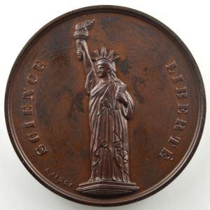 FISCH A.   La libre pensée de Bruxelles   1863-1888   bronze   52mm    SUP/FDC