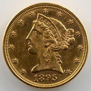 Five D.   1895 (Philadelphie)   Liberty Head    SUP