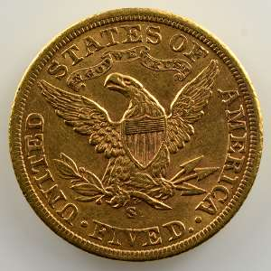 Five D.   1901 S  (San Francisco)   Liberty Head    TTB