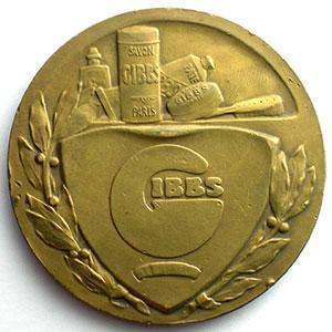 FRAISSE   Médaille   bronze   50mm    Gibbs Savon Paris    TTB+