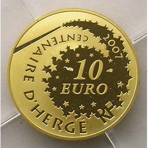 G. -   10 Euro   Tintin   2007    BE