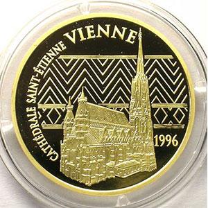 G.103   75 Euro/500 Fr. Cathédrale Saint-Etienne de Vienne   1996   17 g - or 920 mill.    BE