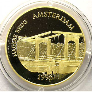 G.105   75 Euro/500 Fr. Magere Brug d'Amsterdam   1996   17 g - or 920 mill.
