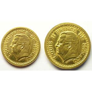 G.131 et 133   1, 2 Francs ND (1943)   Essai en or    SUP/FDC