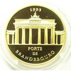 G.14   70 Ecus/500 Fr. Porte de Brandebourg   1993   17 g - or 920 mill.    BE