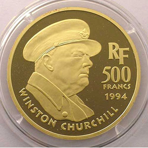 G.15   500 Francs   Winston Churchill    1994    BE