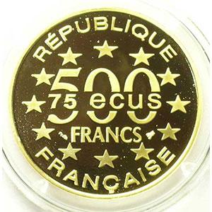 G.18   75 Ecus/500 Fr. Big Ben   1994   17 g - or 920 mill.    BE