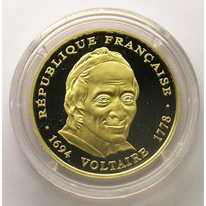 G.3   500 Francs   1994   Voltaire    BE