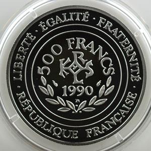 G.3   70 Ecus/500 Fr. Charlemagne   1990   20 g - Platine 999,5 mill.    BE
