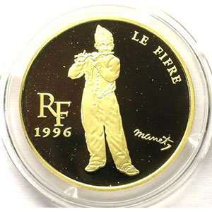 G.31   15 euro/100 Francs   Le Fifre de Edouard Manet   1996   17g or 920 mill.    BE