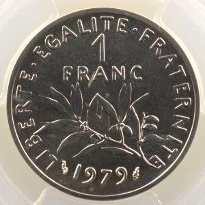 G.474P   1 Franc   1979 argent    PCGS-SP69    FDC
