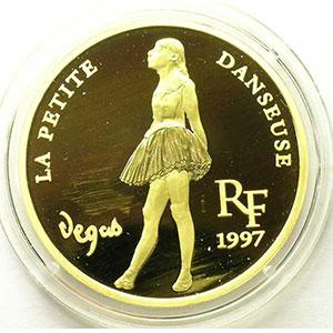 G.48   75 Ecus/500 Francs   La petite danseuse d'Edgar Degas   1997   31,1 g - or 999 mill.    BE