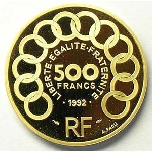 G.7   70 Ecus/500 Fr. Jean Monnet   1992    BE