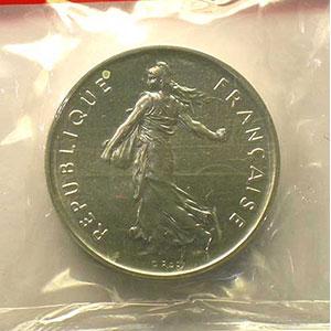 G.771P   5 Francs   1977 argent    FDC