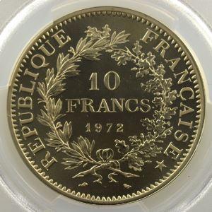 G.813P   10 Francs   1972 Piéfort en argent    PCGS-SP70    FDC exceptionnel