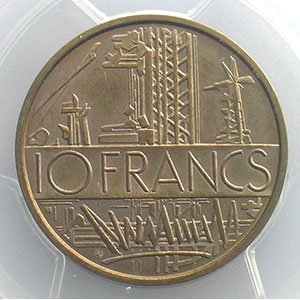 G.814P   10 Francs   1974 cupro-nickel-alu    PCGS-SP64    pr.FDC