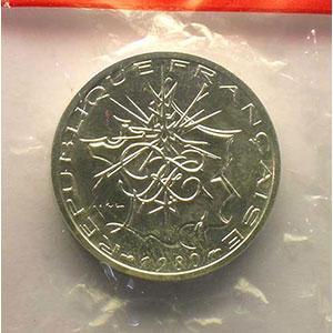 G.814P   10 Francs   1980 argent    FDC